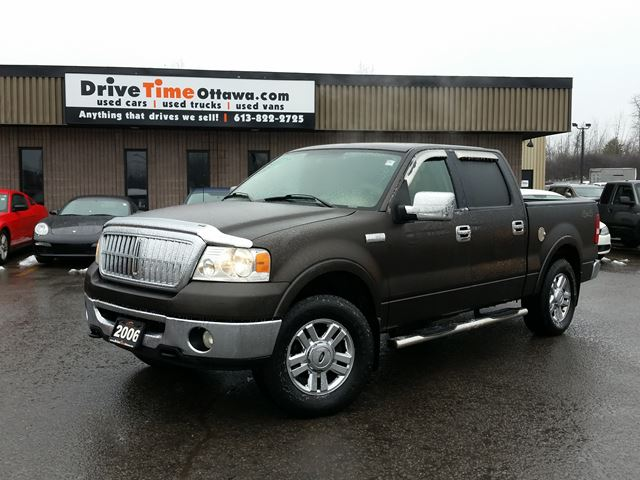 2006 ford f 150 lariat crew cab 4x4 factory dvd player ottawa ontario used car for sale. Black Bedroom Furniture Sets. Home Design Ideas