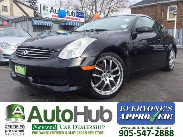 2006 Infiniti G35 COUPE-NAVIGATION-LEATHER-SUNROOF-ALLOY in Hamilton, Ontario