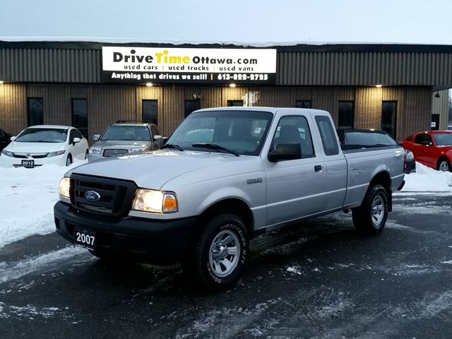 2007 ford ranger xl super cab 4x4 automatic silver drive time ottawa. Black Bedroom Furniture Sets. Home Design Ideas