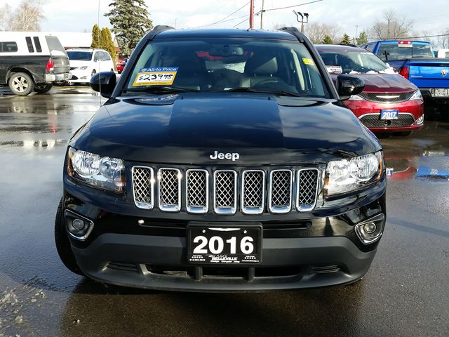 2016 jeep compass high altitude 4x4 sunroof heated seats belleville ontario used car for sale. Black Bedroom Furniture Sets. Home Design Ideas