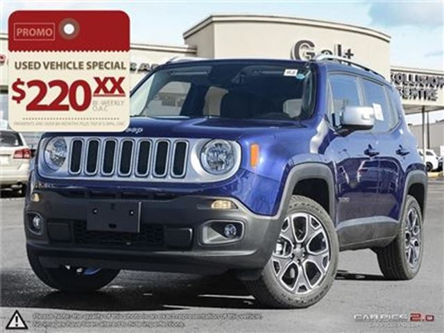 2016 jeep renegade limited 4x4 demo leather nav sky roof cambridge ontario car for sale 2659240. Black Bedroom Furniture Sets. Home Design Ideas