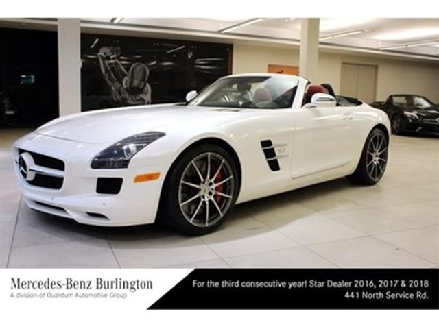 2012 mercedes benz sls amg roadster white mercedes benz burlington. Black Bedroom Furniture Sets. Home Design Ideas