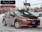 2012 Honda Civic ONLY 90K! **LX MODEL** POWER OPTIONS in Scarborough, Ontario