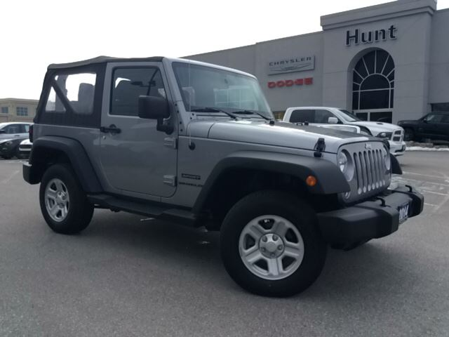 2014 jeep wrangler 2 door sport with soft top more milton ontario used car for sale. Black Bedroom Furniture Sets. Home Design Ideas