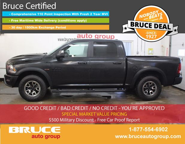 2016 dodge ram 1500 rebel 5 7l 8 cyl hemi automatic 4x4 crew cab middleton nova scotia used. Black Bedroom Furniture Sets. Home Design Ideas