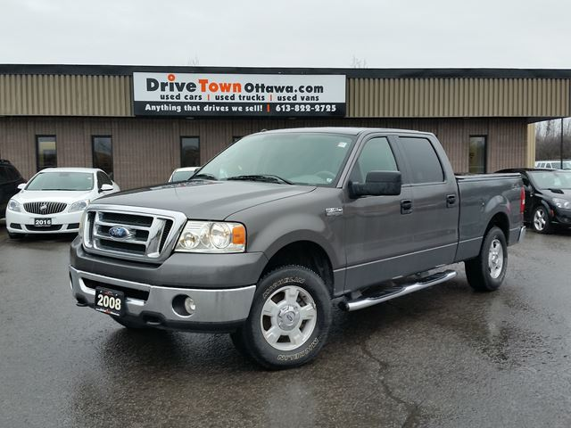 2008 ford f 150 xlt crew cab 4x4 wow ottawa ontario used car for sale 2662183. Black Bedroom Furniture Sets. Home Design Ideas