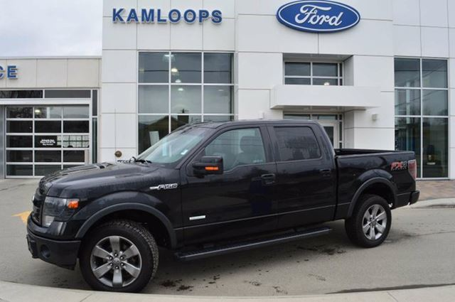2013 ford f 150 fx4 4x4 supercrew cab 5 5 ft box 145 in wb black kamloops ford lincoln ltd. Black Bedroom Furniture Sets. Home Design Ideas