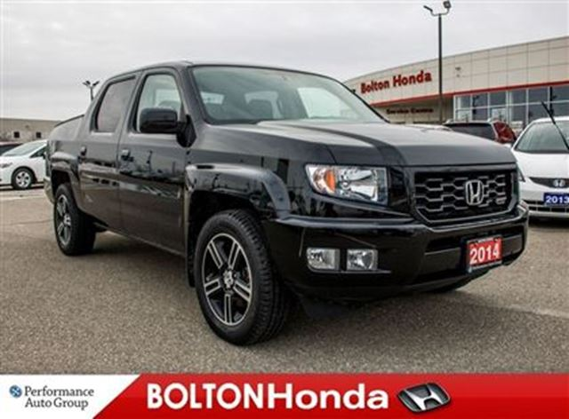 2014 honda ridgeline sport aux trailer hitch one owner bolton ontario used car for sale 2663520. Black Bedroom Furniture Sets. Home Design Ideas
