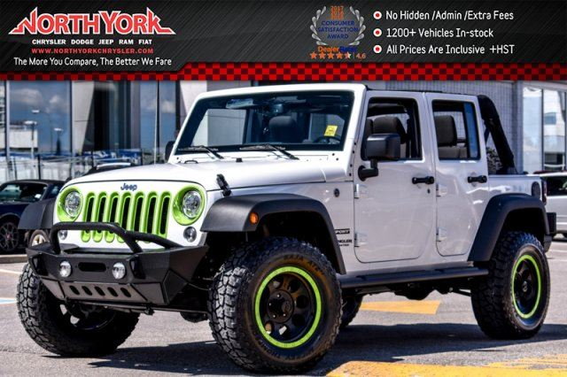 2017 Jeep Wrangler Unlimited New Car Sport S Connectivity,Power Convenience,Cold Wthr Pkgs Hard Top 17Alloys in Thornhill, Ontario