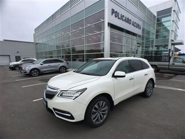 2014 acura mdx tech at tech package one owner factory warranty white acura 2000. Black Bedroom Furniture Sets. Home Design Ideas