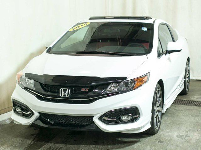 2015 honda civic si hfp coupe 6mt extended warranty white. Black Bedroom Furniture Sets. Home Design Ideas