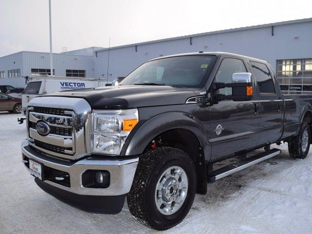 2016 ford f 350 lariat 4x4 sd crew cab 8 ft box 172 in wb srw grey peace river ford sales. Black Bedroom Furniture Sets. Home Design Ideas