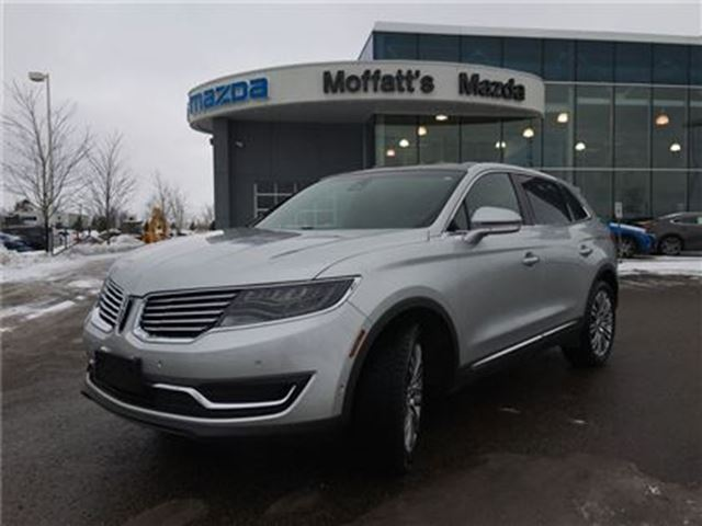 2016 LINCOLN MKX RESERVE AWD, LEATHER, PANO ROOF, GPS/NAV in Barrie, Ontario