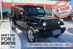 2012 Jeep Wrangler Unlimited SAHARA, UNDER 68,000 KMS in Bonnyville, Alberta