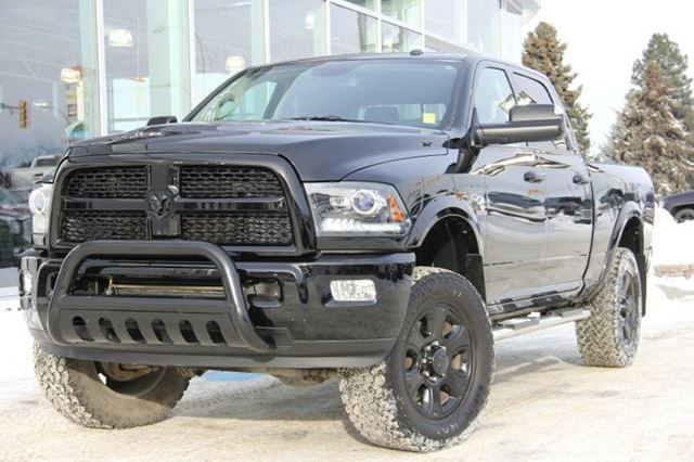 2014 Dodge RAM 3500 Certified | Cummins Diesel | Laramie Package | Heated & Cooled Seats | Alpine Sound System | Black On Black in Kamloops, British Columbia
