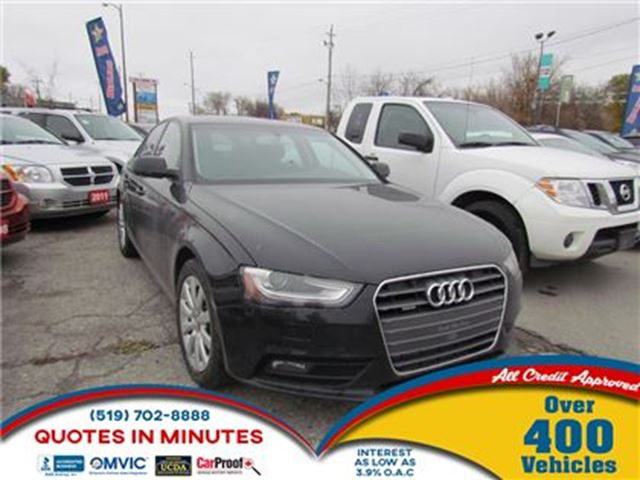 2013 AUDI A4 2.0T   AWD   LEATHER   ROOF   ONE OWNER in London, Ontario