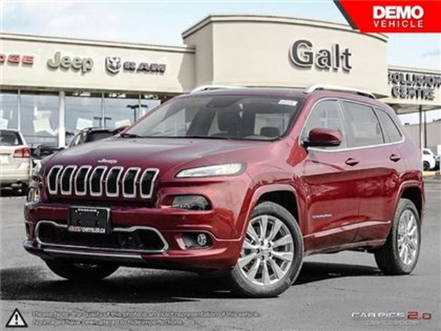 2016 JEEP Cherokee OVERLAND   X COMPANY DEMO   LEATHER   PARK ASSIS in Cambridge, Ontario