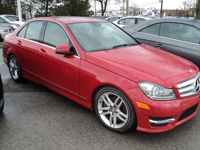 2013 mercedes benz c class c300 4matic navigation red for Red mercedes benz power wheels