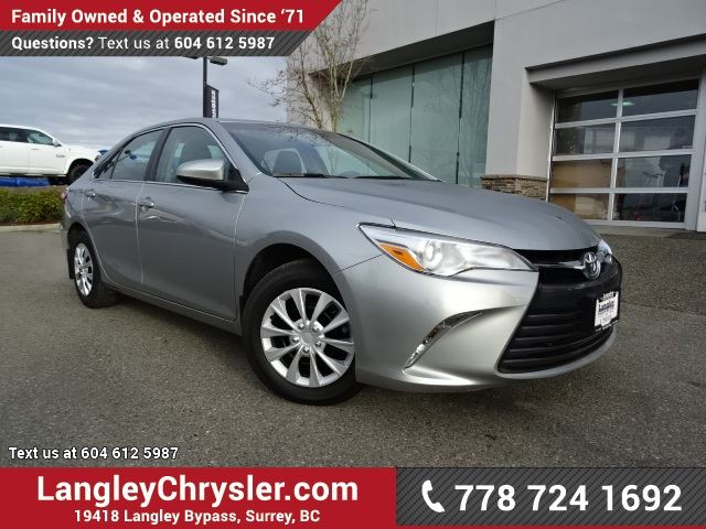2015 toyota camry le surrey british columbia used car. Black Bedroom Furniture Sets. Home Design Ideas
