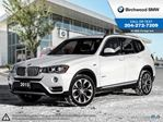 2015 BMW X3 xDrive28i Premium Package Enhanced, Connected Drive! in Winnipeg, Manitoba