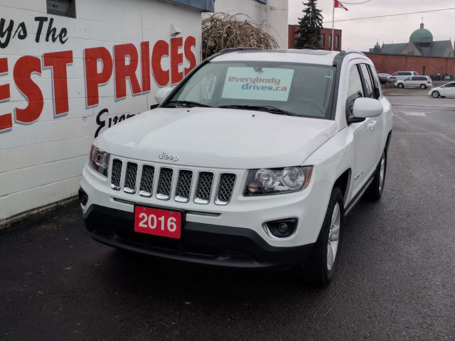 used 2016 jeep compass sport north leather heated seats. Black Bedroom Furniture Sets. Home Design Ideas