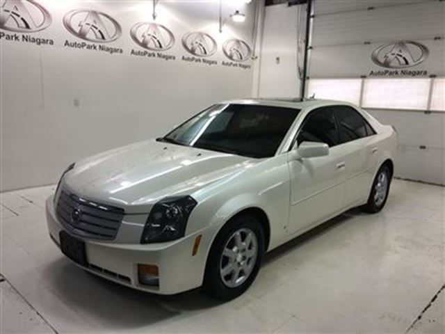 2006 cadillac cts leather sunroof white autopark. Black Bedroom Furniture Sets. Home Design Ideas