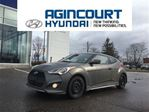 2013 Hyundai Veloster Turbo AUTO/MATTE GREY/NAVI/OFF LEASE/ONLY 44708KMS in Toronto, Ontario
