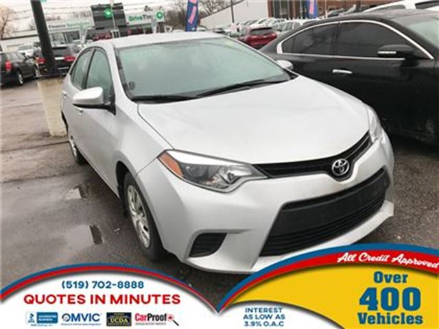 2014 toyota corolla ce auto loans approved london. Black Bedroom Furniture Sets. Home Design Ideas