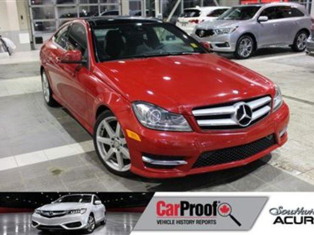 2013 MERCEDES-BENZ C-CLASS 4Matic with Sunroof, Leather, Navigation in Red Deer, Alberta