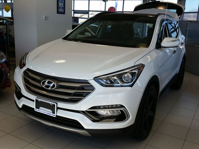2017 hyundai santa fe luxury awd only 101 weekly orillia ontario new car for sale 2687769. Black Bedroom Furniture Sets. Home Design Ideas