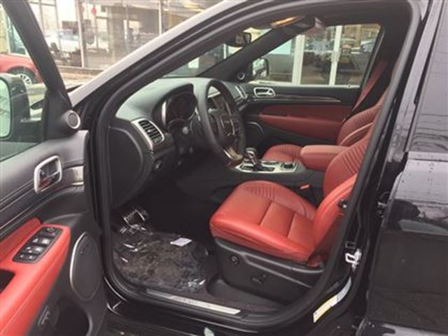 2017 Jeep Grand Cherokee New Srt Red Leather Black
