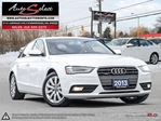 2013 Audi A4 Quattro AWD ONLY 75K! **LIGHTS PKG** CLEAN CARPROOF in Scarborough, Ontario