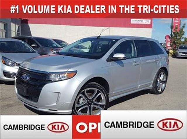 2014 Ford Edge Sport Nav Leather Awd Silver