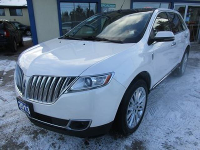 2013 lincoln mkx loaded all wheel drive 5 passenger 3 7l v6 en white broadway auto sales. Black Bedroom Furniture Sets. Home Design Ideas