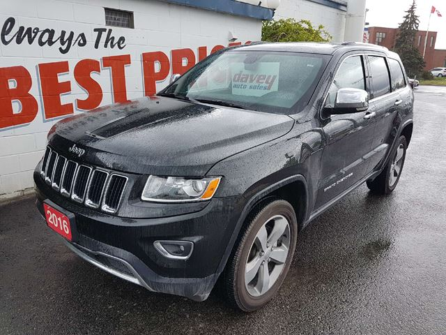 2016 jeep grand cherokee limited 4x4 navigation sunroof in oshawa. Black Bedroom Furniture Sets. Home Design Ideas