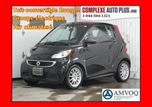 2013 Smart Fortwo Passion Convertible *noir avec toit rouge WOW in Saint-Jerome, Quebec