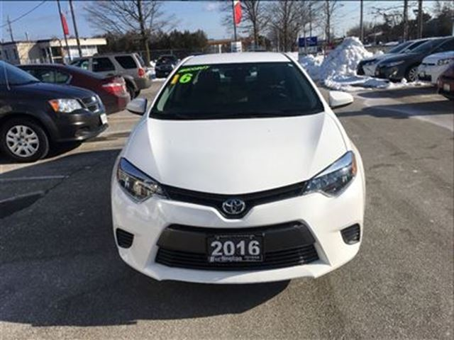 2016 toyota corolla le extra clean 39 burlington ontario used car for sale 2695671. Black Bedroom Furniture Sets. Home Design Ideas