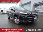 2016 Jeep Cherokee Limited ACCIDENT FREE w/ LEATHER & HEATED SEATS in Surrey, British Columbia