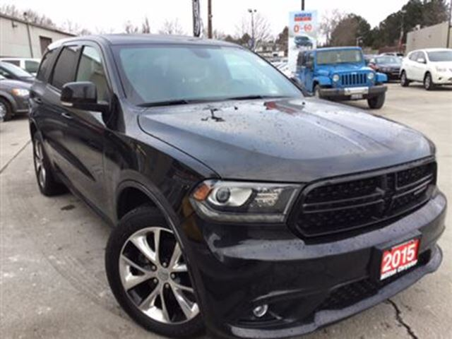 2015 dodge durango r t leather navigation sunroof milton ontario used car for sale 2697205. Black Bedroom Furniture Sets. Home Design Ideas