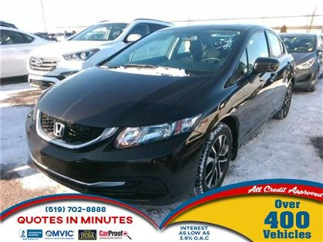 2014 HONDA CIVIC EX   ONE OWNER   ROOF   CAM in London, Ontario