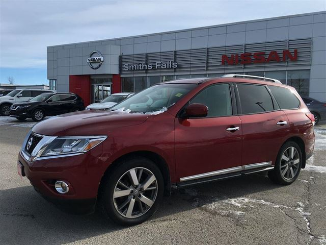 used 2014 nissan pathfinder platinum smiths falls. Black Bedroom Furniture Sets. Home Design Ideas