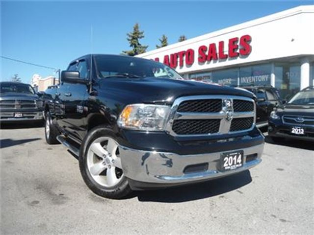 2014 dodge ram 1500 quad cab 1500 slt bluetooth hemi low km no accide oakville ontario used. Black Bedroom Furniture Sets. Home Design Ideas