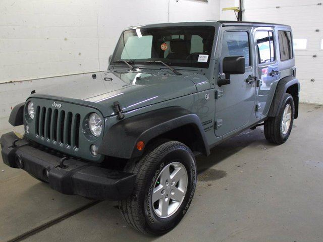 2015 jeep wrangler unlimited sport 4x4 edmonton alberta used car for sale 2704126. Black Bedroom Furniture Sets. Home Design Ideas