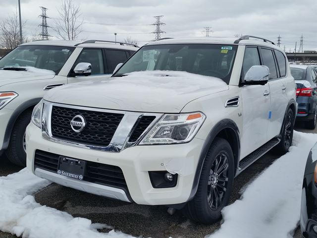 2017 nissan armada platinum edition white sherway nissan new car. Black Bedroom Furniture Sets. Home Design Ideas