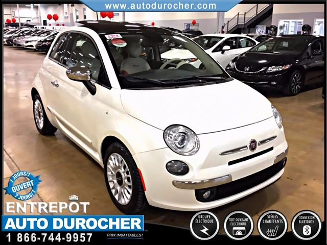 2014 fiat 500 lounge automatique tout n quipn cuir navigation laval quebec used car for. Black Bedroom Furniture Sets. Home Design Ideas