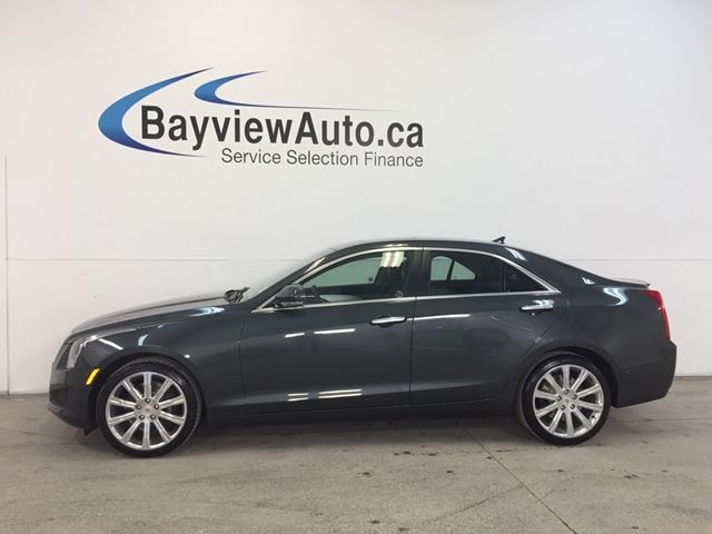 2014 CADILLAC ATS LUXURY- AWD! TURBO! ROOF! LEATHER! NAV! BOSE! in Belleville, Ontario