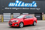 2014 Chevrolet Sonic LTZ w/ LEATHER! SUNROOF! HEATED SEATS! BLUETOOTH! REAR CAMERA! LANE DEPARTURE WARNING! in Guelph, Ontario