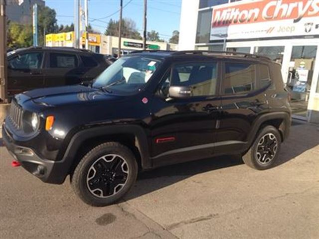 2016 jeep renegade trailhawk 4x4 milton ontario used. Black Bedroom Furniture Sets. Home Design Ideas