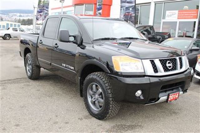 2014 nissan titan crew cab 4x4 5 6 pro 4x vernon british columbia used car for sale 2708858. Black Bedroom Furniture Sets. Home Design Ideas
