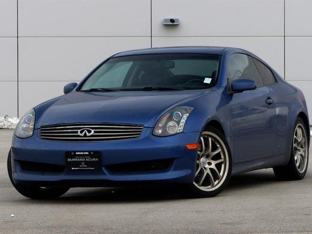 2006 infiniti g35 coupe blue burrard acura. Black Bedroom Furniture Sets. Home Design Ideas